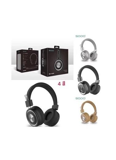 Sodo Sodo Sd-1002 Mikrofonlu Bluetooth 5.0 Kulak Üstü Kulaklık Kahverengi Kahve